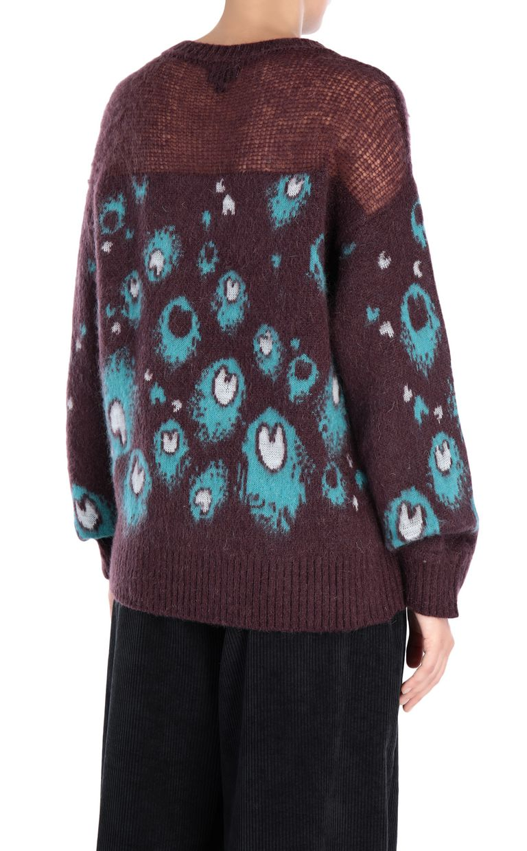 JUST CAVALLI Eye Of The Peacock sweater Crewneck sweater Woman d