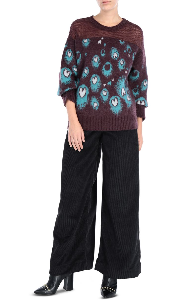 JUST CAVALLI Eye Of The Peacock sweater Crewneck sweater Woman r