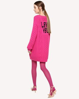 "REDValentino Wool inlay ""Love You"" sweater"