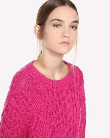 REDValentino QR0KC1E4454 FA9 Knit Sweater Woman e