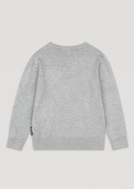 Sweater with all-over Emporio Armani logo