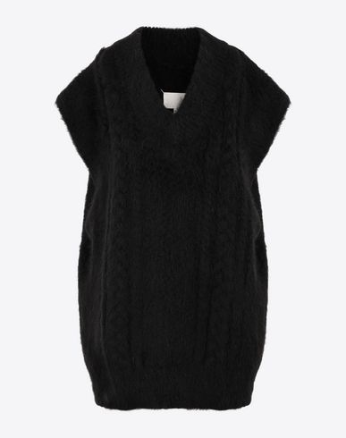 MAISON MARGIELA Sleeveless sweater Woman Multi-stitch braided sleeveless jumper f