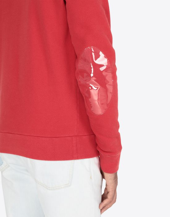 MAISON MARGIELA Transparent elbow-patched sweatshirt Sweatshirt [*** pickupInStoreShippingNotGuaranteed_info ***] a