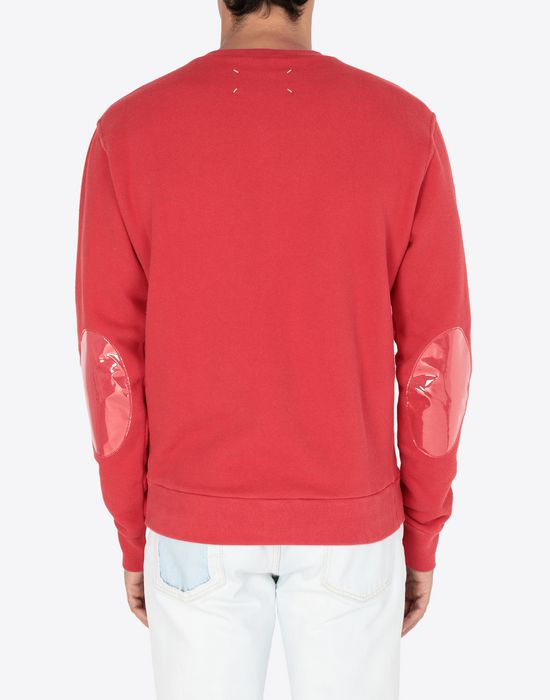 MAISON MARGIELA Transparent elbow-patched sweatshirt Sweatshirt [*** pickupInStoreShippingNotGuaranteed_info ***] e