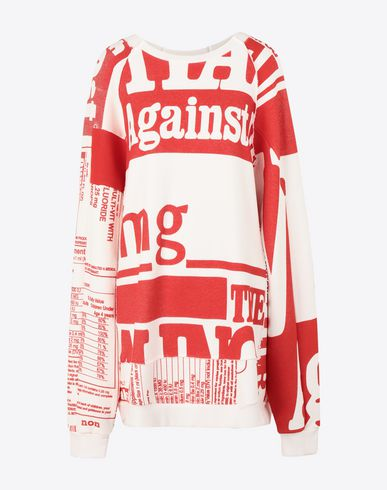 MAISON MARGIELA Vitamin print sweatshirt Sweatshirt Woman f