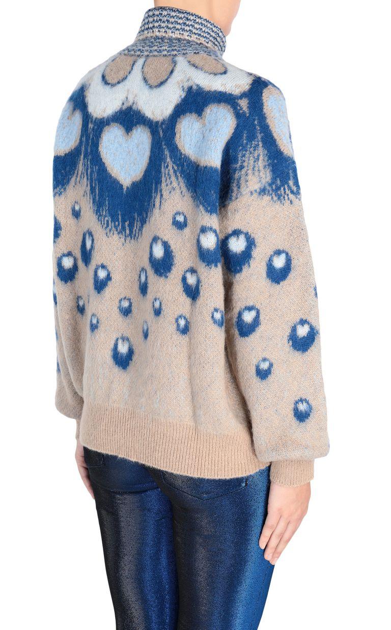 JUST CAVALLI Oversized heart sweater High neck sweater [*** pickupInStoreShipping_info ***] d