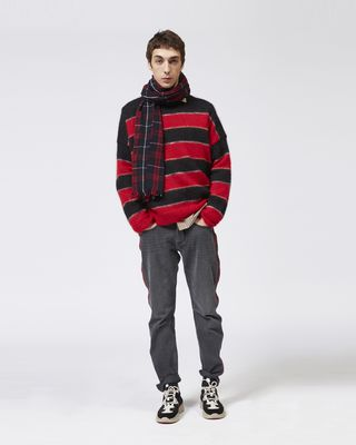 ISABEL MARANT LONG SLEEVE JUMPER Man REECEH striped jumper r