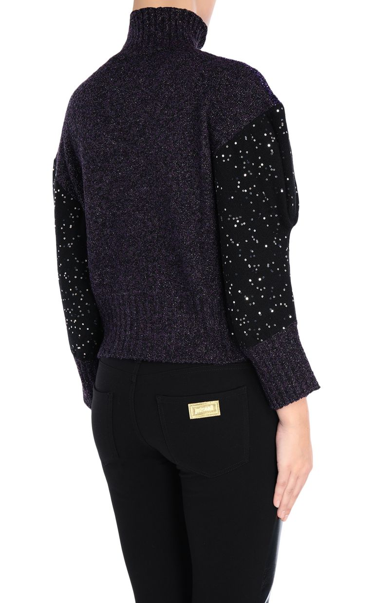JUST CAVALLI Shiny high-neck pullover Long sleeve sweater [*** pickupInStoreShipping_info ***] d