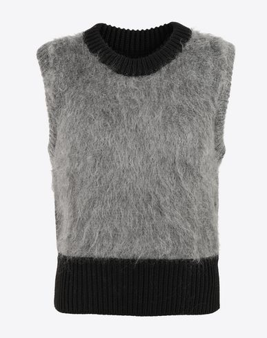 MAISON MARGIELA Sleeveless jumper [*** pickupInStoreShippingNotGuaranteed_info ***] Brushed wool-blend sleeveless pullover f