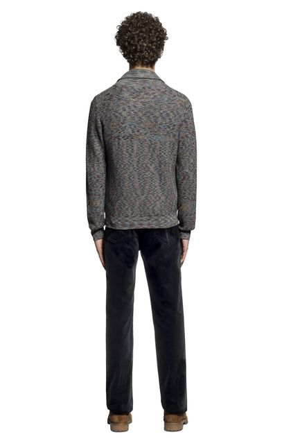 MISSONI Cardigan Steel grey Man - Front