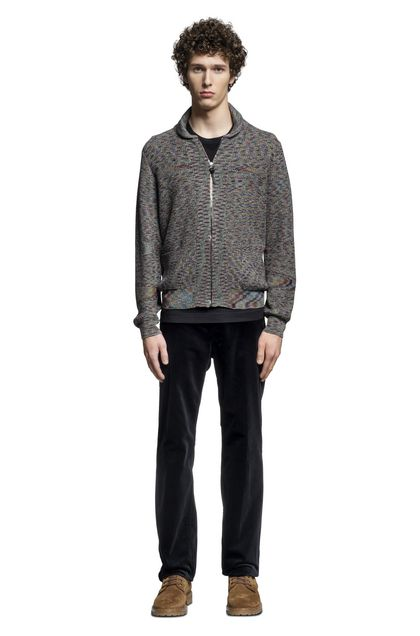 MISSONI Cardigan Steel grey Man - Back