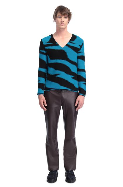 MISSONI V-Neck Turquoise Man - Back