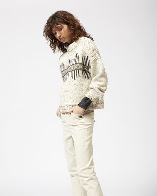 ISABEL MARANT LONG SLEEVE JUMPER Woman ELWYN graphic jumper r