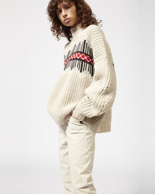 ISABEL MARANT LONG SLEEVE JUMPER Woman CLOTIL graphic jumper r