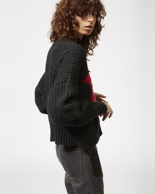 ISABEL MARANT LONG SLEEVE JUMPER Woman HANOI patchwork jumper r