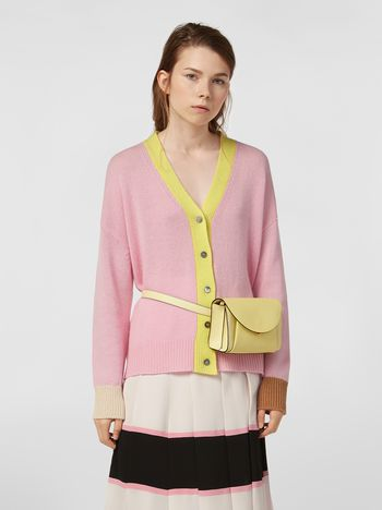 Marni Cardigan in cashmere color-block Donna