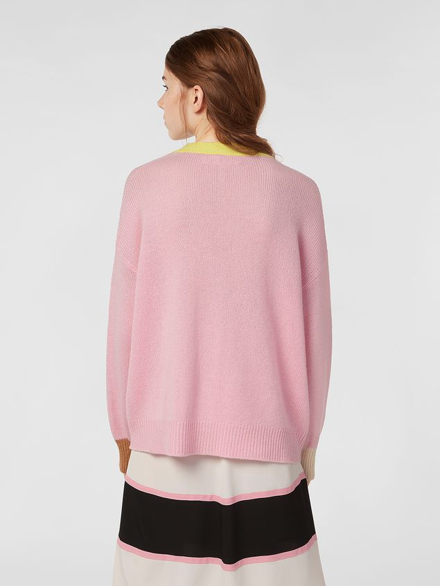 Marni Cardigan in color-block cashmere Woman