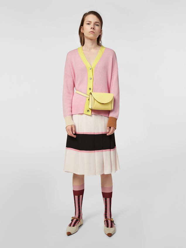 Marni Cardigan in color-block cashmere Woman - 5