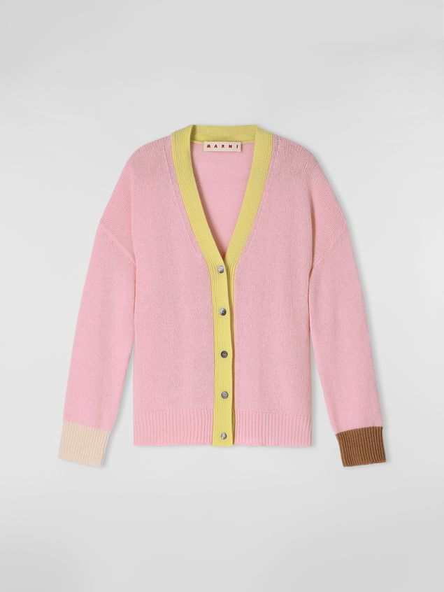 Marni Cardigan in color-block cashmere Woman - 2