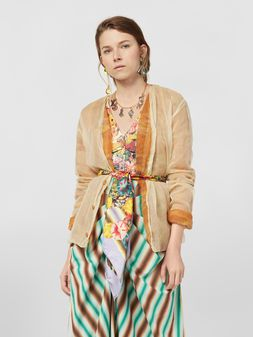 Marni Cardigan in mohair and silk with organza outer shell Woman