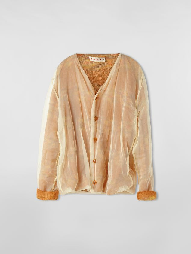 Marni Cardigan in mohair and silk with organza outer shell Woman - 2