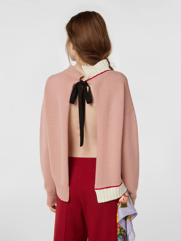Marni Knit in virgin wool and cotton with contrast edges Woman