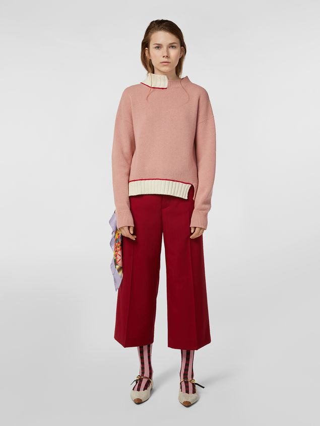 Marni Knit in virgin wool and cotton with contrast edges Woman - 5