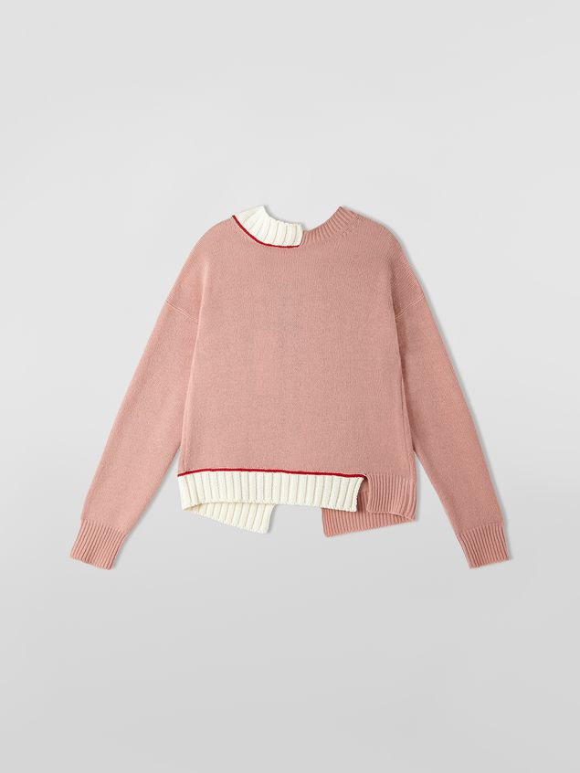 Marni Knit in virgin wool and cotton with contrast edges Woman - 2