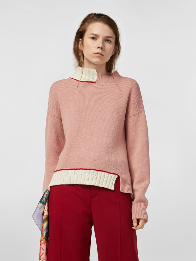 Marni Knit in virgin wool and cotton with contrast edges Woman - 1