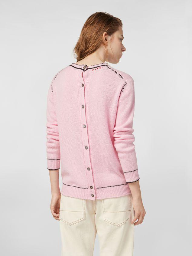 Marni Cashmere sweater with rear button closure Woman