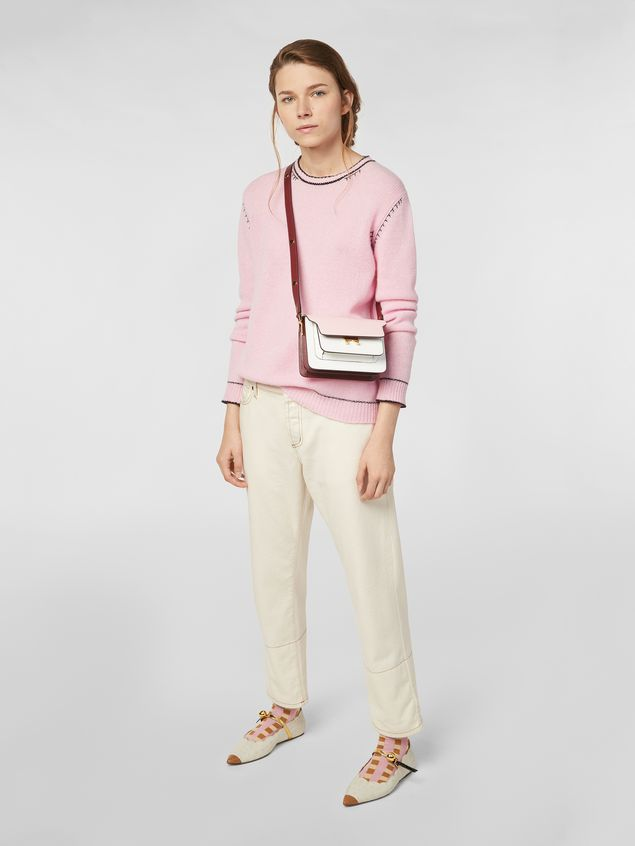 Marni Knit in embroidered pink and black cashmere  Woman - 5