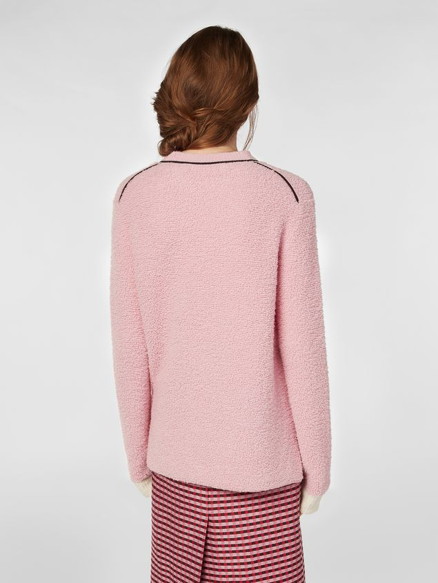 Marni Crew-neck knit in virgin wool and nylon Woman