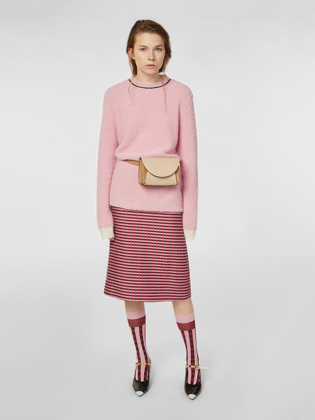 Marni Crew-neck knit in virgin wool and nylon Woman - 5