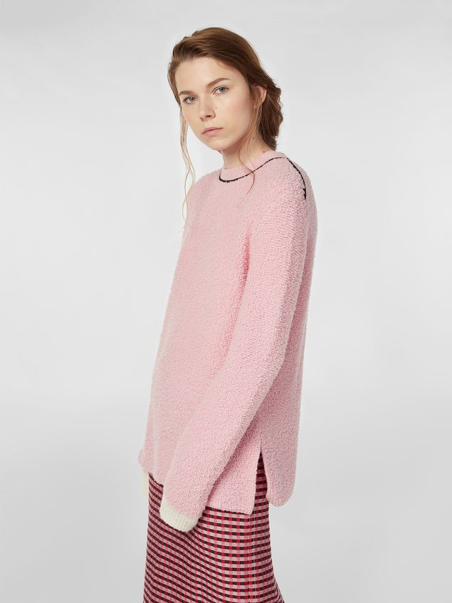 Marni Crew-neck knit in virgin wool and nylon Woman - 1