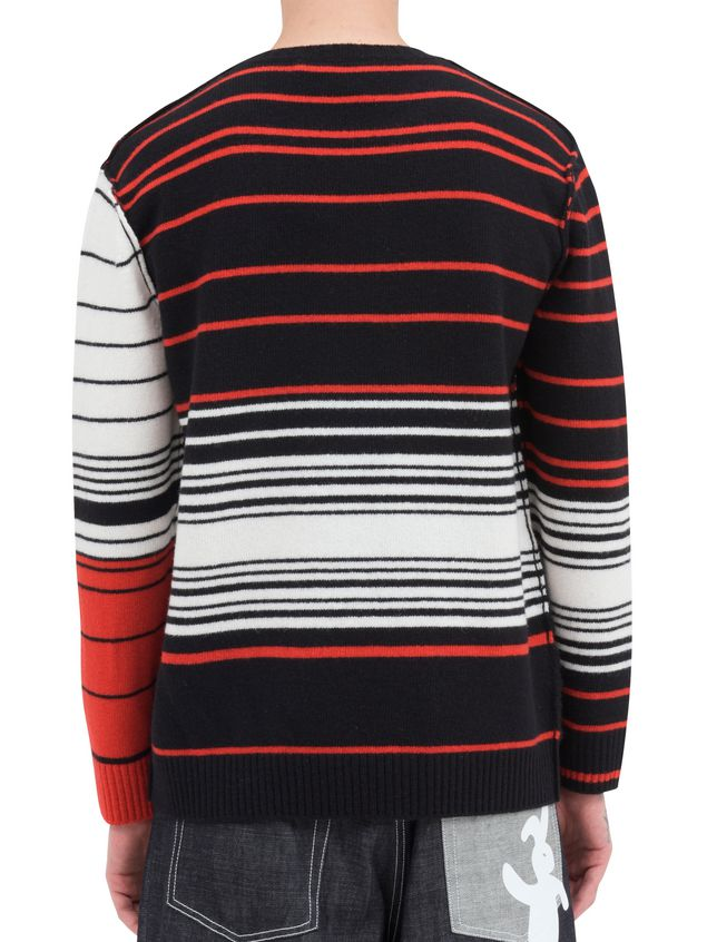 Marni Crew-neck knit in wool with Dance Bunny inlay Man