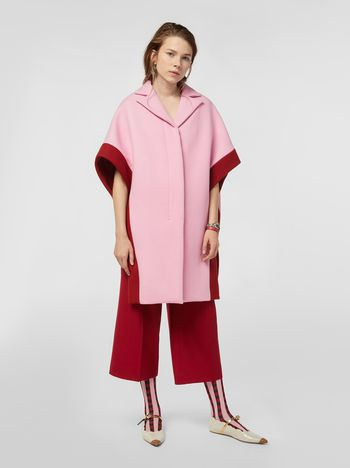 Marni Diagonal cape in felt Woman