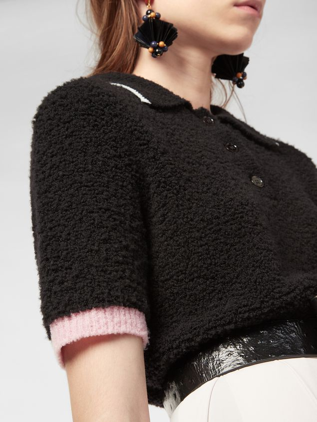 Marni Polo neck knit in virgin wool and nylon Woman - 4