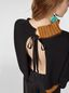 Marni Turtleneck knit in black and brown virgin wool and cotton  Woman - 3