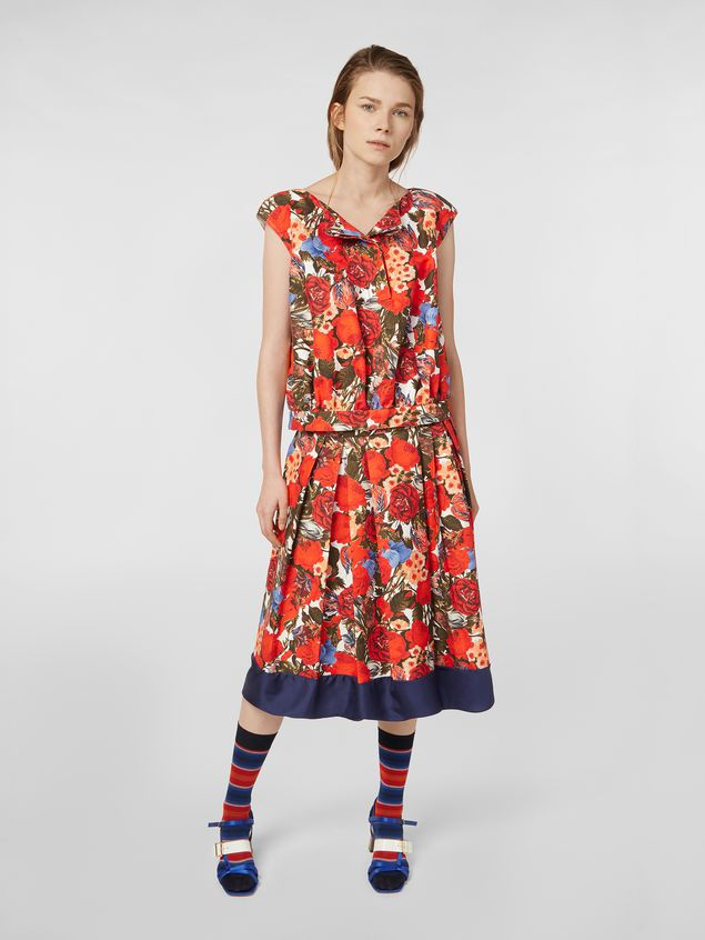 Marni Top in cotton cady with Duncraig print Woman - 5