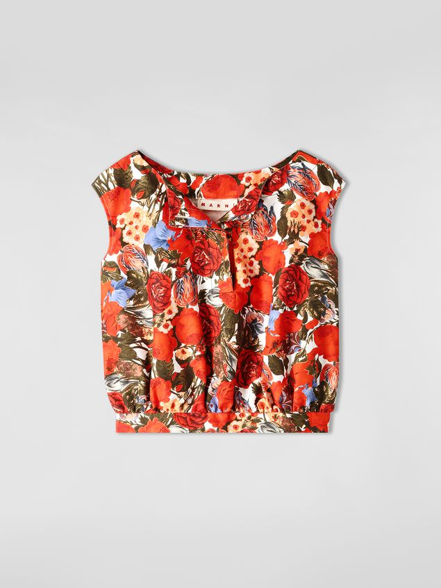 Marni Top in cotton cady with Duncraig print Woman - 2