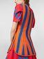Marni Top in viscose and nylon orange and blue Woman - 4
