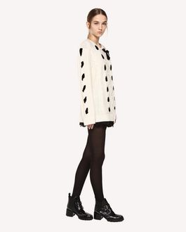 REDValentino Wool sweater with velvet ribbons