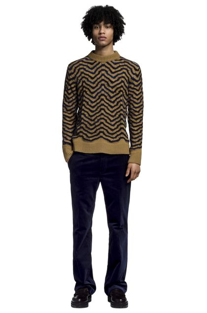 MISSONI Crew-neck Brown Man - Back
