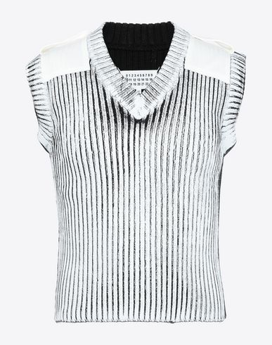 MAISON MARGIELA Sleeveless sweater [*** pickupInStoreShippingNotGuaranteed_info ***] Laminé wool sleeveless pullover f