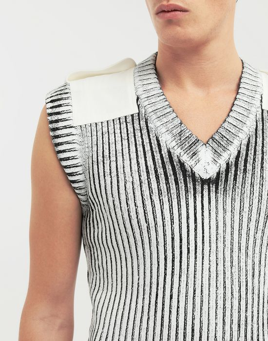 MAISON MARGIELA Laminé wool sleeveless pullover Sleeveless sweater [*** pickupInStoreShippingNotGuaranteed_info ***] a