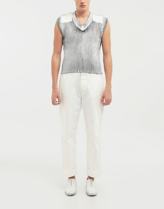 MAISON MARGIELA Laminé wool sleeveless pullover Sleeveless sweater [*** pickupInStoreShippingNotGuaranteed_info ***] d