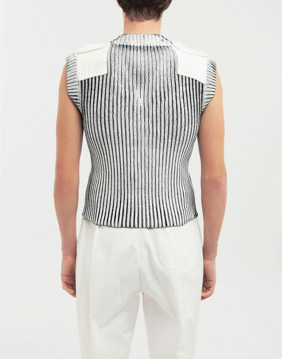 MAISON MARGIELA Laminé wool sleeveless pullover Sleeveless sweater [*** pickupInStoreShippingNotGuaranteed_info ***] e