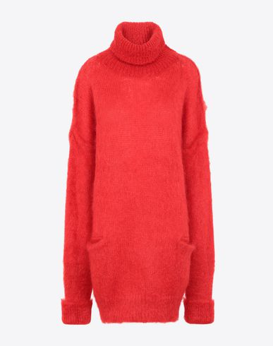 MAISON MARGIELA High neck sweater Woman Oversized mohair pullover f