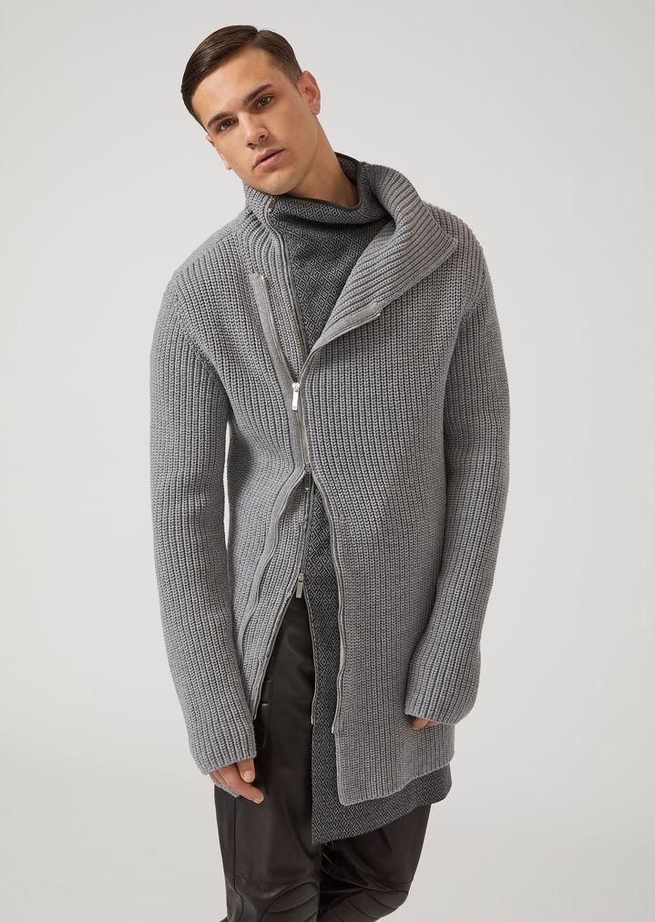 3a0857806fb3 Patterned jacquard crew-neck sweater   Man   Emporio Armani