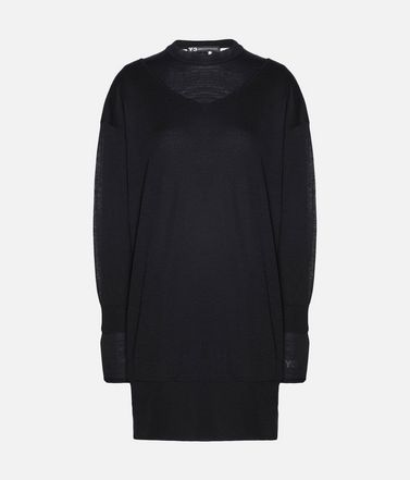 Y-3 Layered Knitted Long Sweater